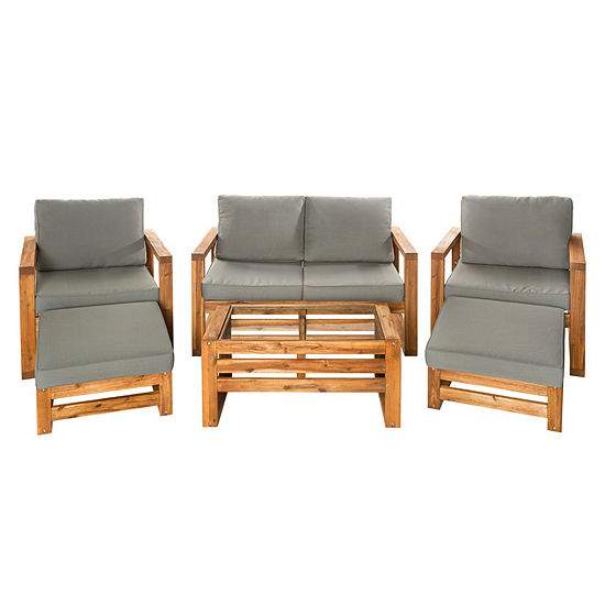 Hudson Open Side 6-pc. Outdoor Patio Chat Set