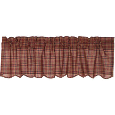 Rustic & Lodge Window Parker Scalloped Valance