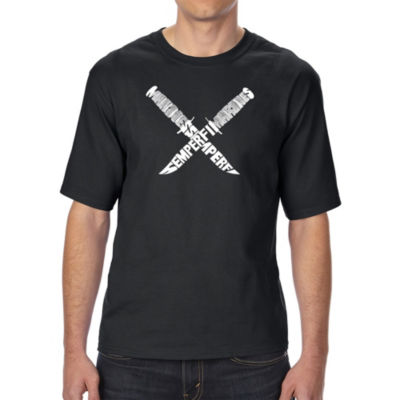 Los Angeles Pop Art Men's Tall and Long Word Art T-shirt - Semper Fi