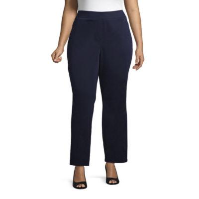 Liz Claiborne Comfort Fit Pull On Pant - Plus