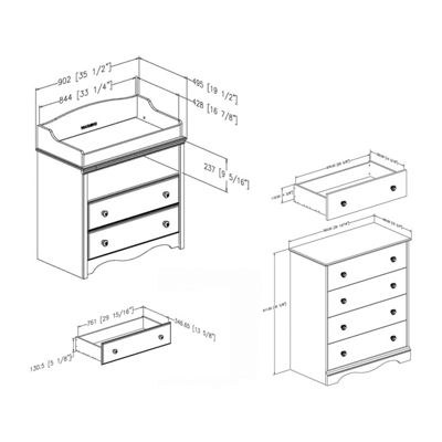 Angel Changing Table and 4-Drawer Chest Set