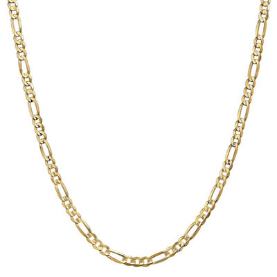 14K Gold Solid Figaro 22 Inch Chain Necklace