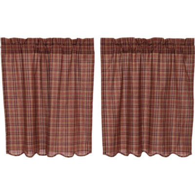 Rustic & Lodge Window Parker Scalloped Tier Pair
