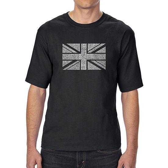 Los Angeles Pop Art Men's Tall and Long Word Art T-shirt - UNION JACK