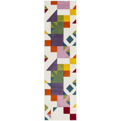 Safavieh Hollywood Collection Drummond Abstract Runner Rug