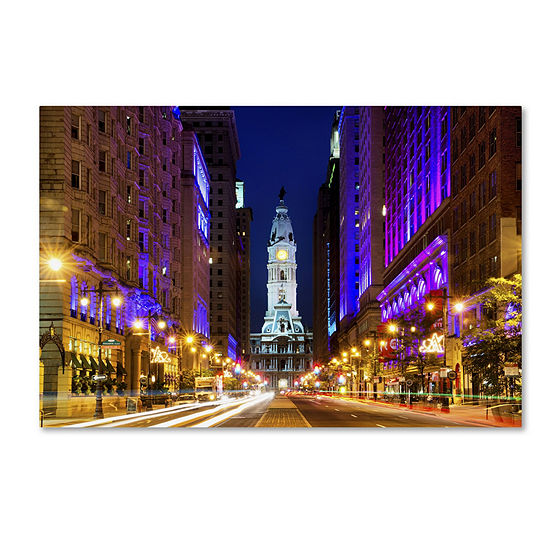 Trademark Fine Art Philippe Hugonnard City Hall Philadelphia Giclee Canvas Art