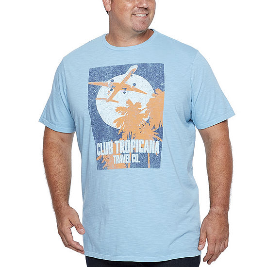 The Foundry Big & Tall Supply Co.-Big and Tall Mens Crew Neck Short Sleeve Graphic T-Shirt