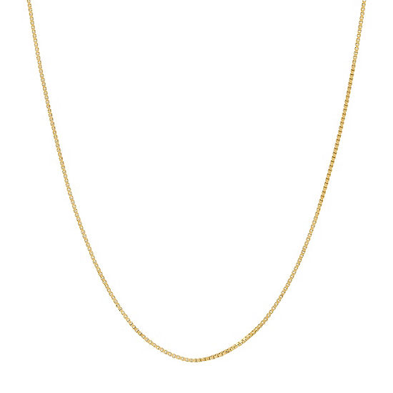 "Made in Italy Box Chain, 14K Gold 22"" .75mm Venetian"