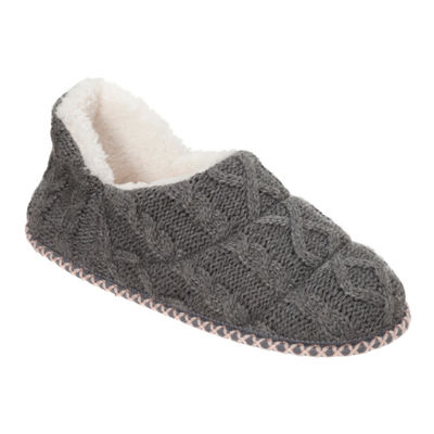 Dearfoams Sweater Knit Slip-On Slippers