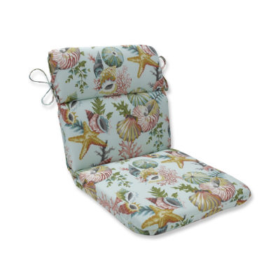 Pillow Perfect Grantoli Seamist Rounded Corners Patio Chair Cushion