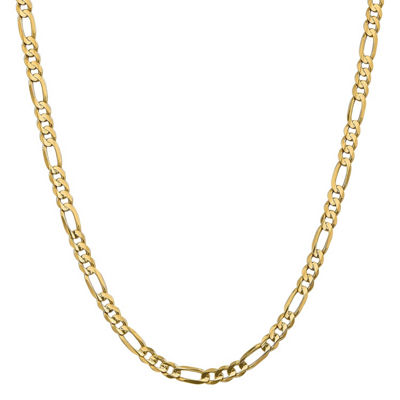 14K Gold 22 Inch Solid Figaro Chain Necklace
