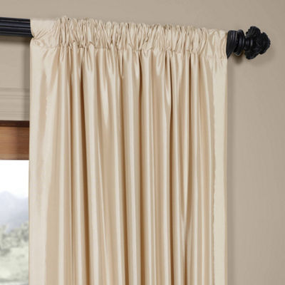 Exclusive Fabrics & Furnishing Faux Silk Taffeta Curtain Panel