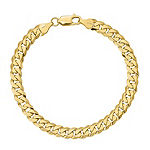 10K Gold Solid Curb Chain Bracelet