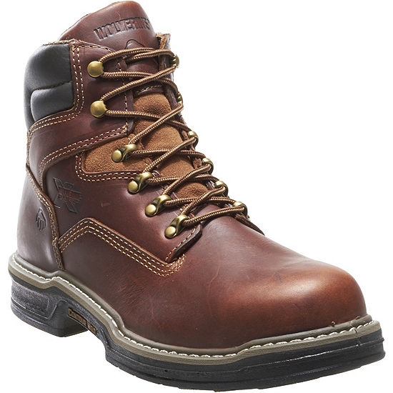 Wolverine Mens Raider Lace Up Slip Resistant Work Boots