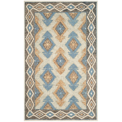 Safavieh Micro-Loop Collection Romeo Geometric Square Area Rug