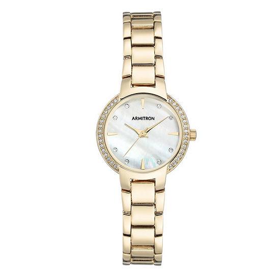 Armitron Unisex Adult Crystal Accent Gold Tone Bracelet Watch-75/5587mpgp