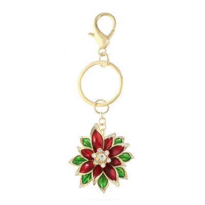 Monet Jewelry Poinsettia Key Chain
