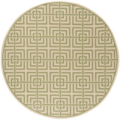 Safavieh Linden Collection Neal Geometric Round Area Rug