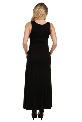 24Seven Comfort Apparel Marion Sleeveless Maternity Maxi Dress - Plus