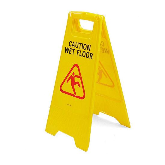 Mind Reader Caution Floor Warning Sign, Yellow