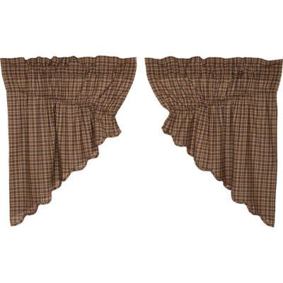 Rustic & Lodge Window Prescott Scalloped Prairie Swag Pair