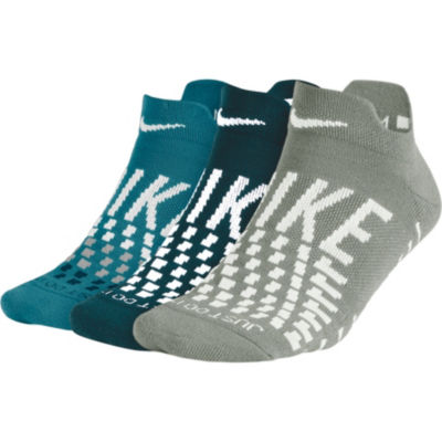 Nike Womens 3 Pk Dry Low Cut Socks