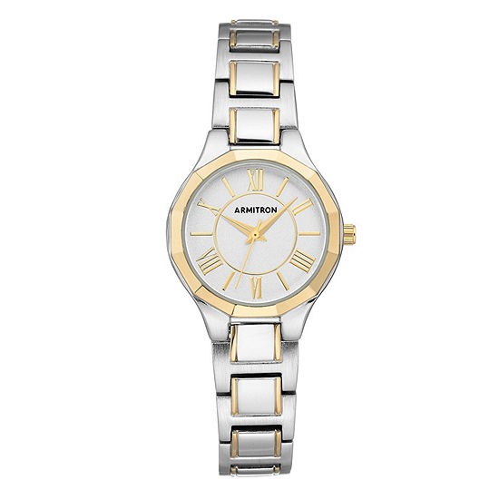 Armitron Unisex Two Tone Bracelet Watch 75 5605svtt