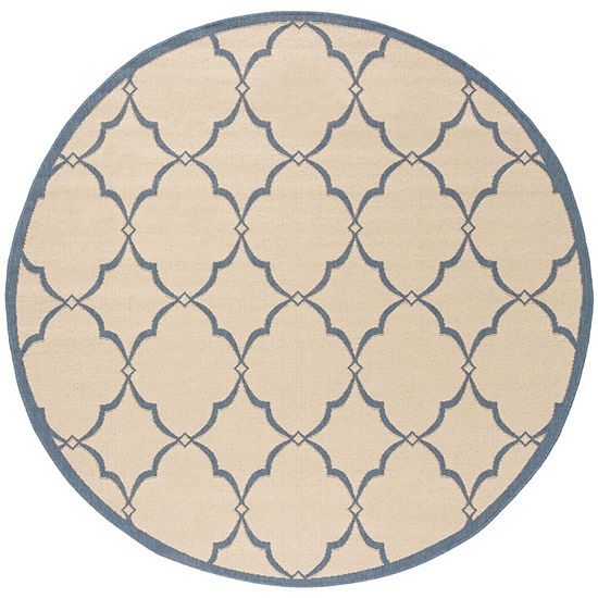 Safavieh Linden Collection Dina Geometric Round Area Rug
