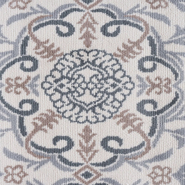 Tayse Izel Traditional Brocade Round Area Rug