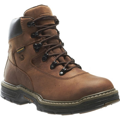 Wolverine Mens Marauder Lace Up Waterproof Slip Resistant Work Boots Lace-up