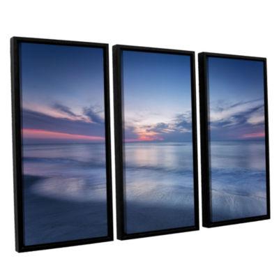 Brushstone Atlantic Sunrise No.7 3-Piece Floater-Framed Gallery Wrapped Canvas Set