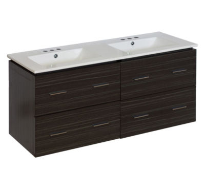 48-in. W Wall Mount Dawn Grey Vanity Set For 3H4-in. Drilling