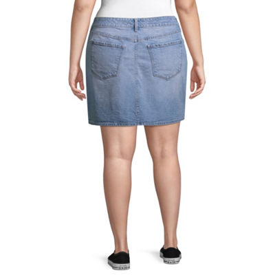 Arizona Denim Skirt-Juniors Plus