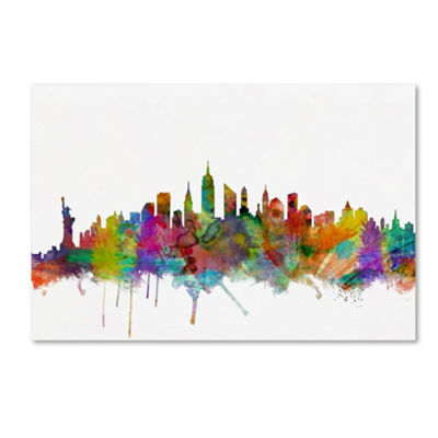 Trademark Fine Art Michael Tompsett New York CitySkyline Giclee Canvas Art