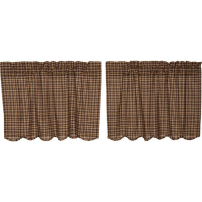 Rustic & Lodge Window Prescott Scalloped Tier Pair
