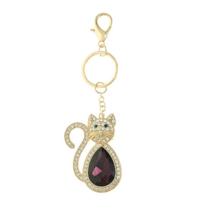 Monet Jewelry Compact Cat Keyfob