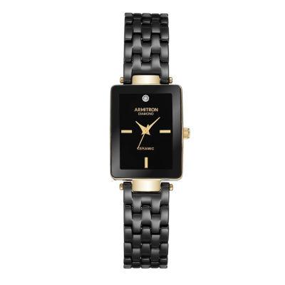 Armitron Unisex Gold Tone Bracelet Watch-75/5613bkgp