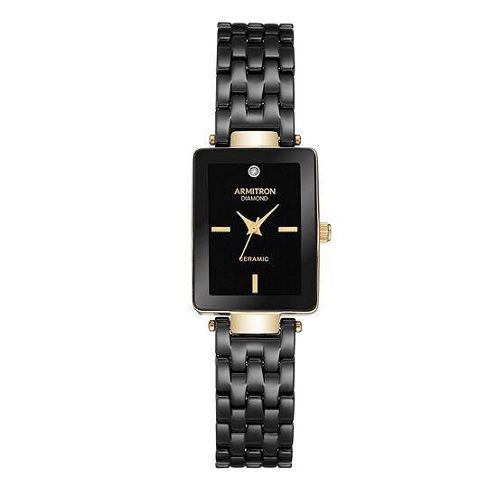 Armitron Unisex Gold Tone Bracelet Watch 75 5613bkgp