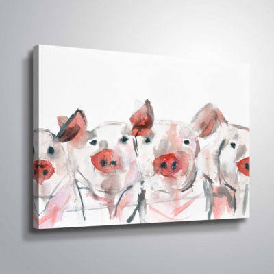 Pigs Gallery Wrapped Canvas