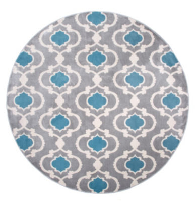 World Rug Gallery Moroccan Trellis Contemporary Round Area Rug