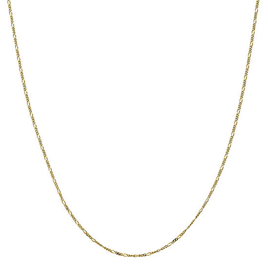 "10K Gold 16-24"" Solid Figaro Chain Necklace"