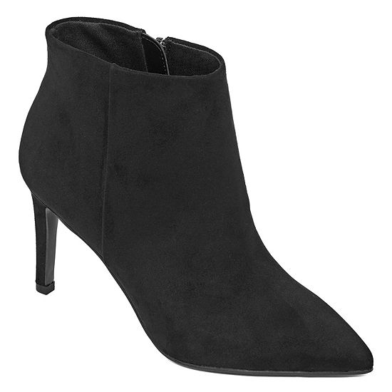 Worthington Womens Layton Booties Stiletto Heel Zip
