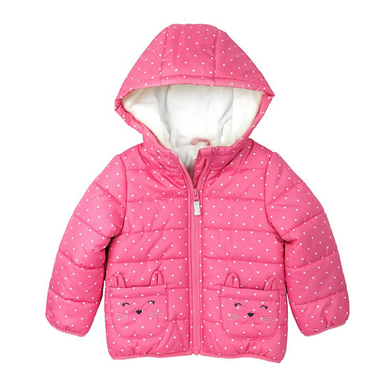 Carter's - Girls Fleece Lined Midweight Puffer Jacket-Baby