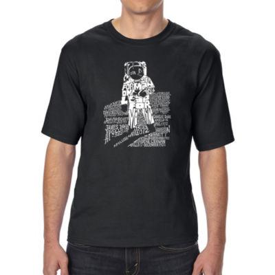 Los Angeles Pop Art Men's Tall and Long Word Art T-shirt - ASTRONAUT
