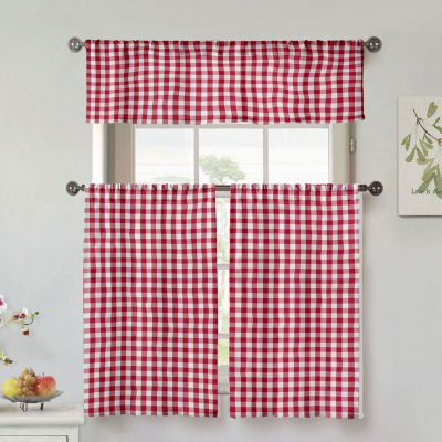 Duck River Umid 3-Piece Kitchen Curtain Set