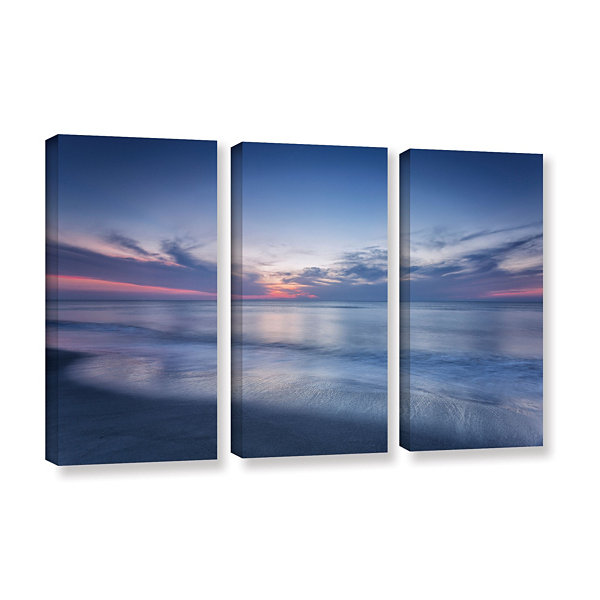 Atlantic Sunrise No.7 3-pc Set Gallery Wrapped Canvas