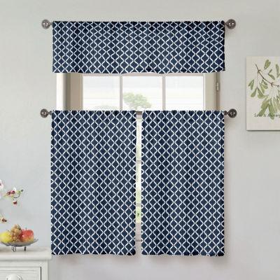 Duck River Moana Cotton 3-Piece Kitchen Curtain Set