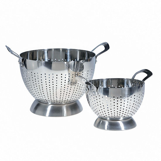 Epicurious Stainless Steel 15qt 5qt Colander Set