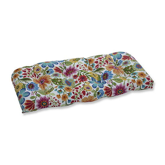 Pillow Perfect Gregoire Prima Wicker Patio Loveseat Cushion