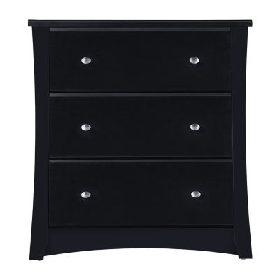 Storkcraft Crescent 3-Drawer Chest - Black